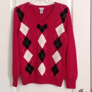 IZOD Sweaters - IZOD Ladies Argyle Golf Sweater, Classic V-Neck